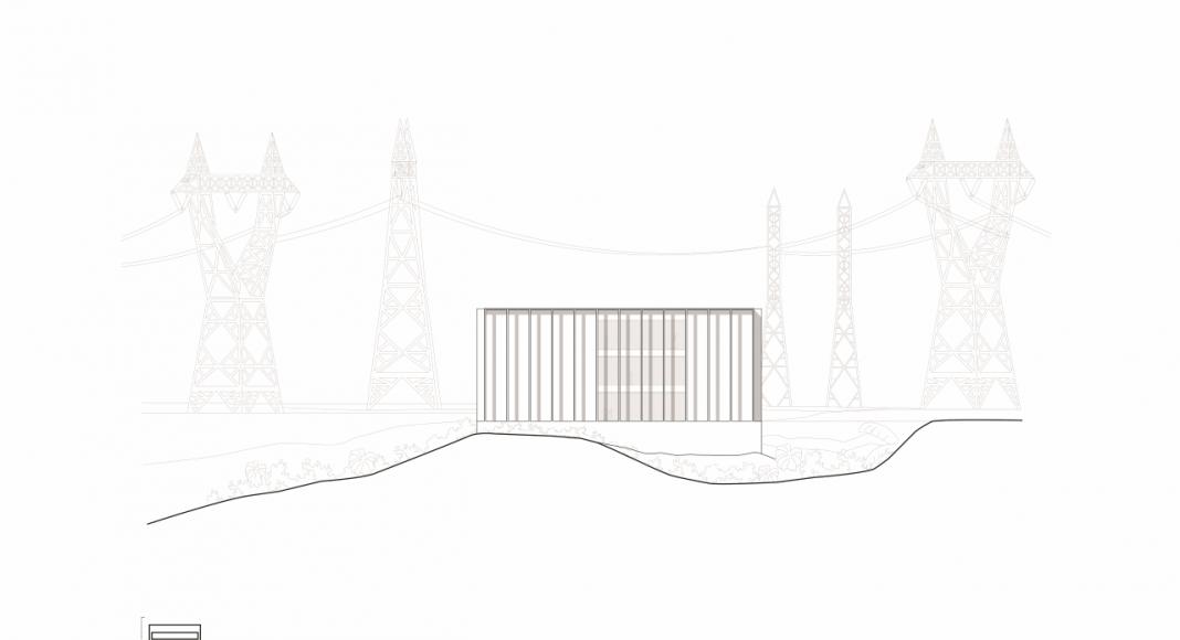 Fachada Oeste de la Facultad de Medicina de São José dos Campos : Drawing © Kaan Architecten