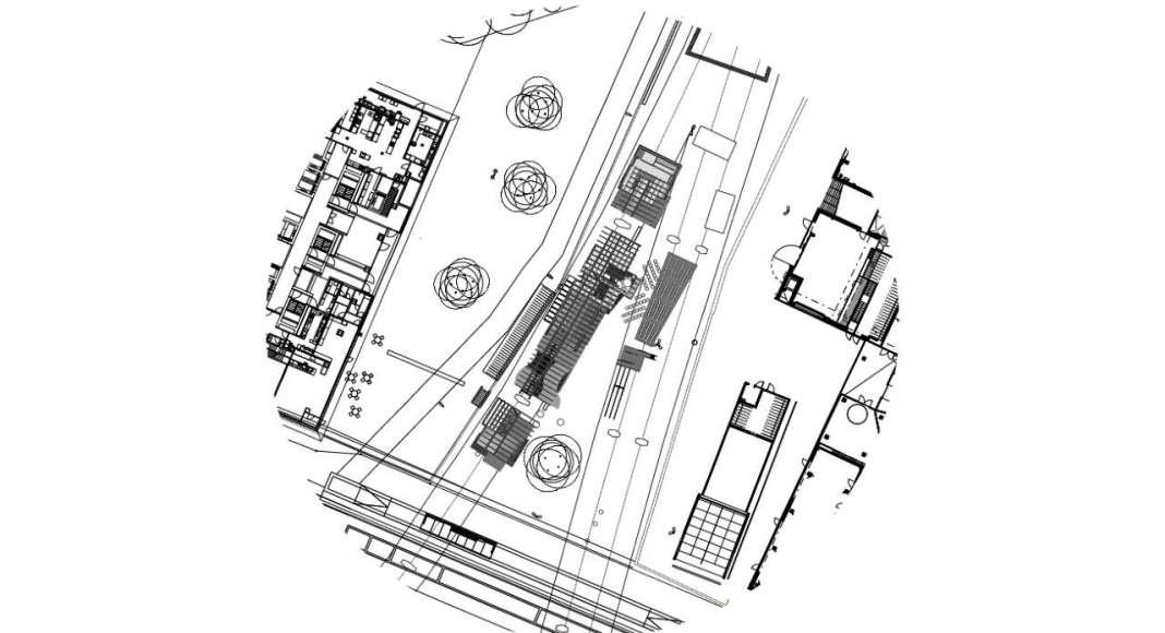 HOUSE 2 - COUNTER CITY Plan - instalación diseñada por el laboratorio ALICE de la EPFL : Drawing © Elena Chiavi