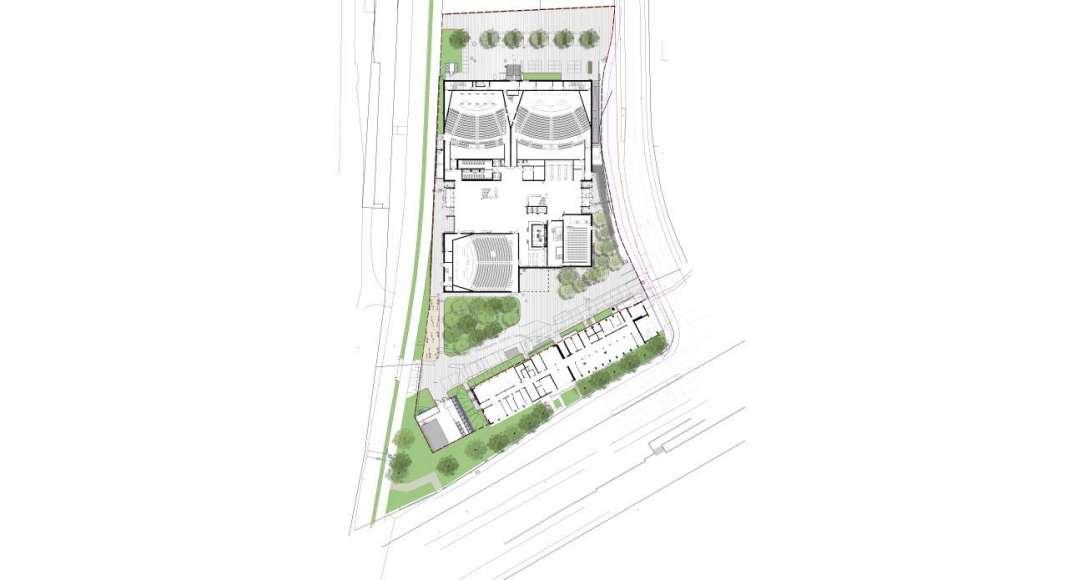 Planta de Conjunto del Auditorio C.A.R.L en la Universidad Aachen RWTH : Drawing © Schmidt Hammer Lassen Architects
