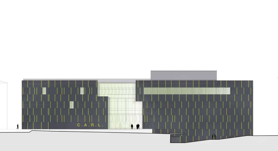 Fachada del Auditorio C.A.R.L en la Universidad Aachen RWTH : Drawing © Schmidt Hammer Lassen Architects