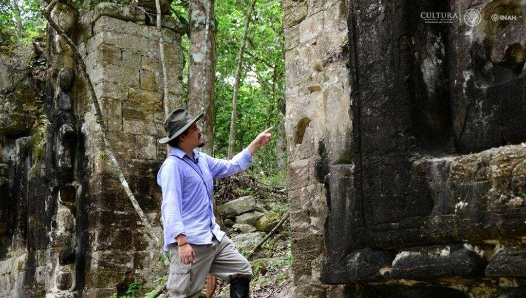 Octavio Esparza, investigador del Centro de Estudios Mayas de la UNAM. Foto: Mauricio Marat. INAH