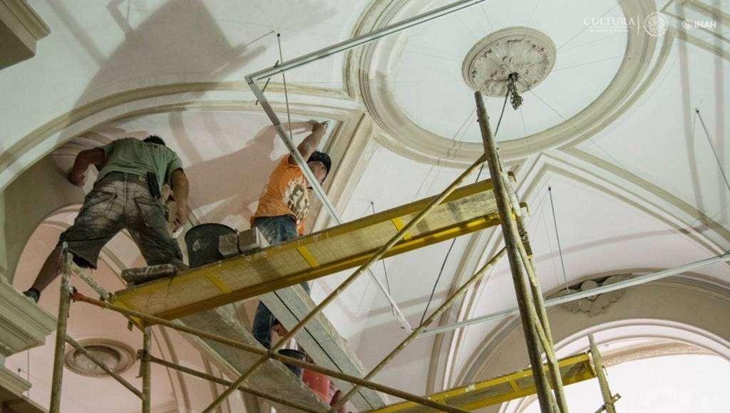 El conjunto de obras realizadas en el Palacio Cantón totaliza una inversión cercana a los seis millones seiscientos mil pesos : Foto © Museo Palacio Cantón-INAH