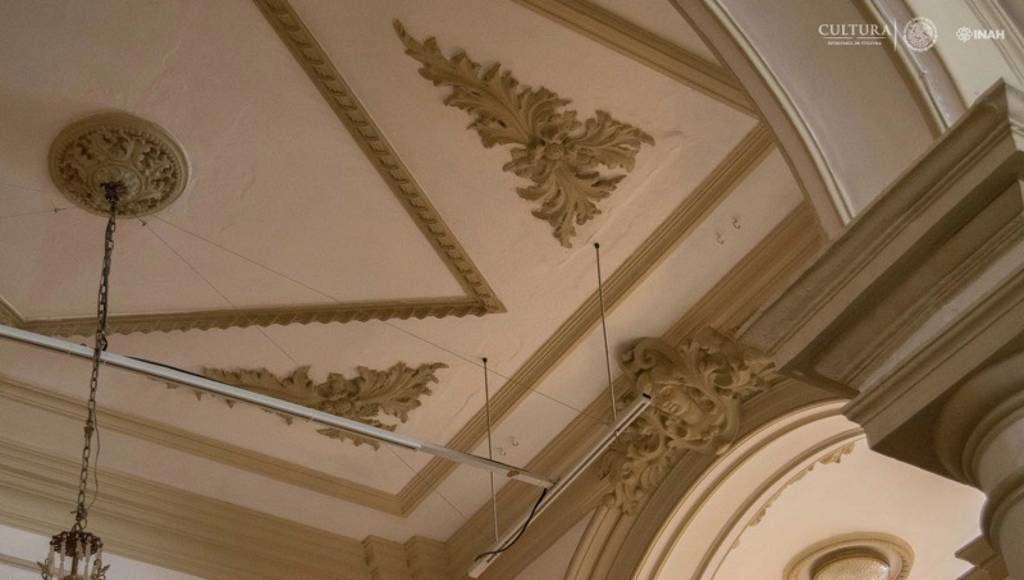 Vista parcial de la bóveda al terminar : Foto © Museo Palacio Cantón-INAH