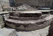 A través del Programa de Arqueología Urbana (PAU), en distintos lapsos se ha efectuado la liberación del edificio dedicado al dios mexica del viento, de más de 30 m de longitud : Foto © Héctor Montaño, INAH