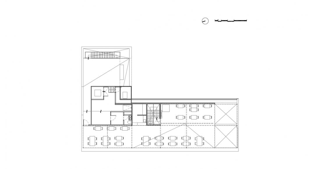 Planta Cuarto Nivel del Proyecto Milán 44 ReUrbano diseñado por Francisco Pardo Arquitecto : Plano © Francisco Pardo Arquitecto