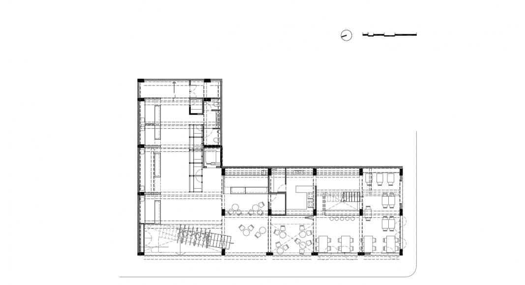 Planta Baja del Proyecto Milán 44 ReUrbano diseñado por Francisco Pardo Arquitecto : Plano © Francisco Pardo Arquitecto