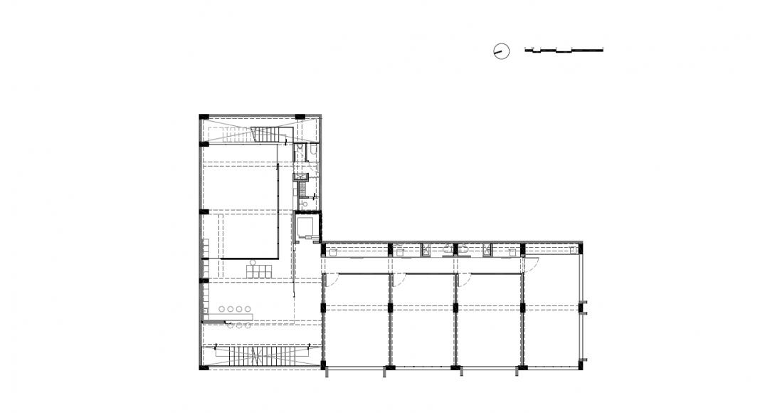 Planta Segundo Nivel del Proyecto Milán 44 ReUrbano diseñado por Francisco Pardo Arquitecto : Plano © Francisco Pardo Arquitecto