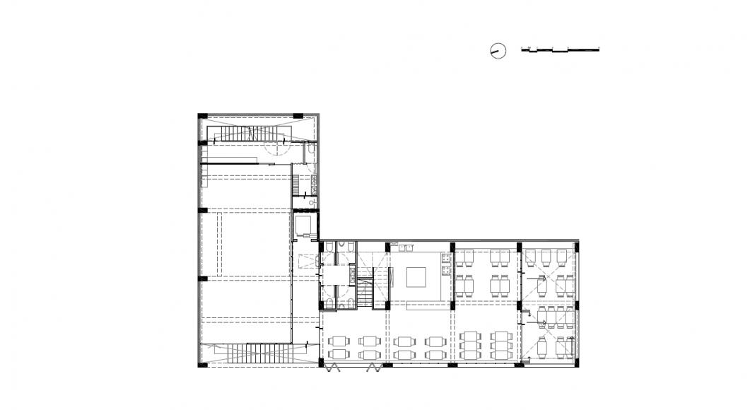 Planta Tercer Nivel del Proyecto Milán 44 ReUrbano diseñado por Francisco Pardo Arquitecto : Plano © Francisco Pardo Arquitecto