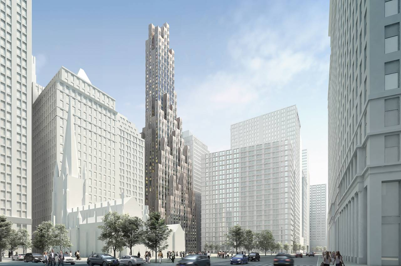 New(er) York - One Wall Street : Render © Hollwich Kushner
