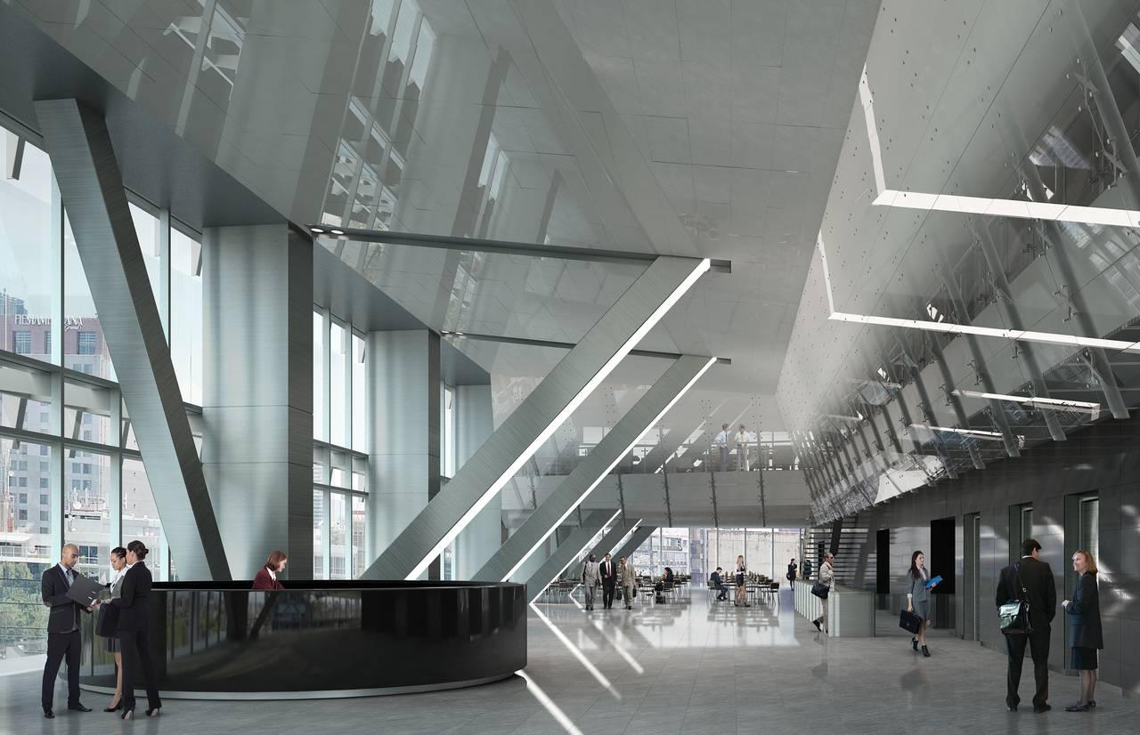 Vista Interior hacia la Cafetería del desarrollo Chapultepec Uno : Fotografía © Chapultepec Uno