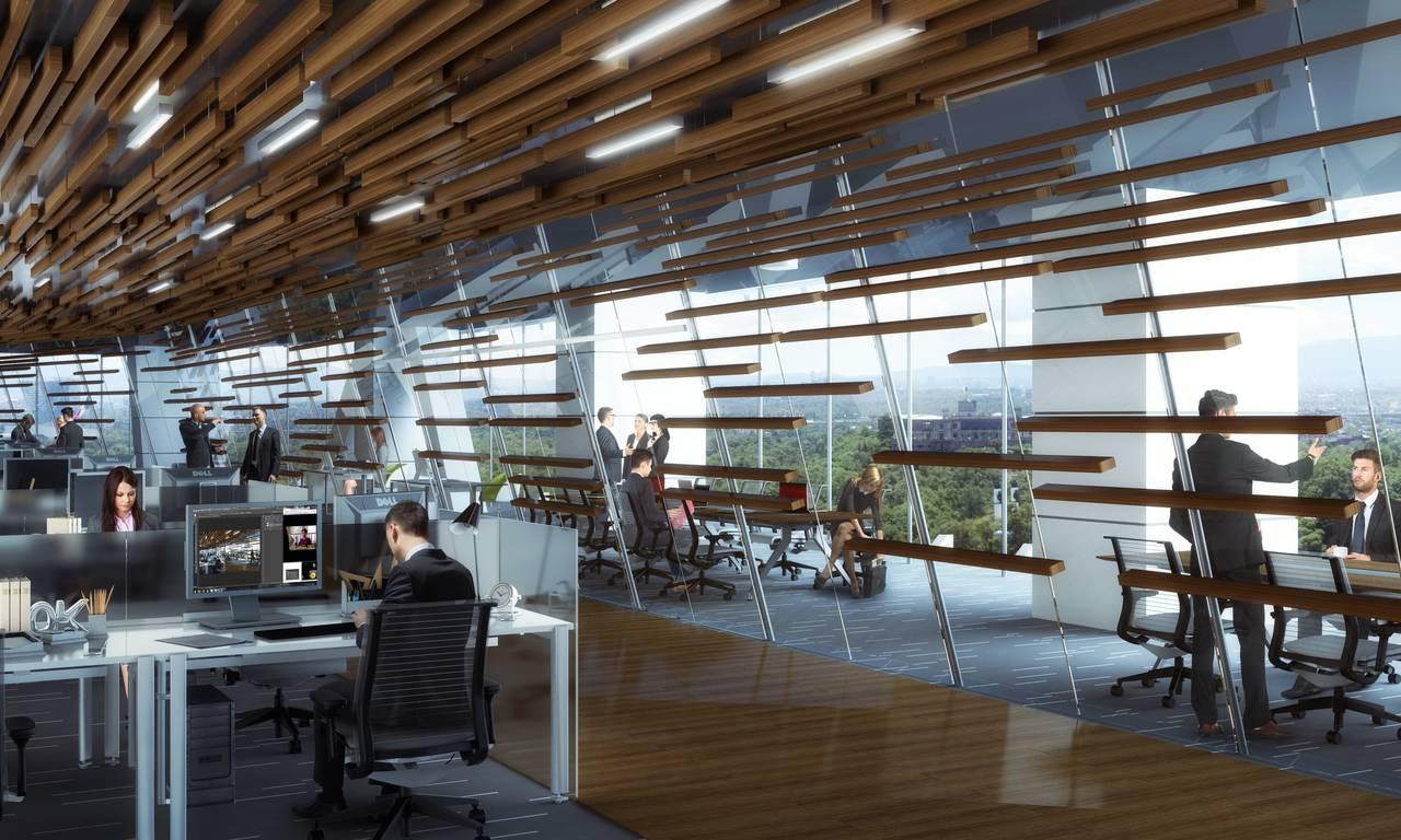 Vista Interior de las Oficinas del desarrollo Chapultepec Uno : Fotografía © Chapultepec Uno