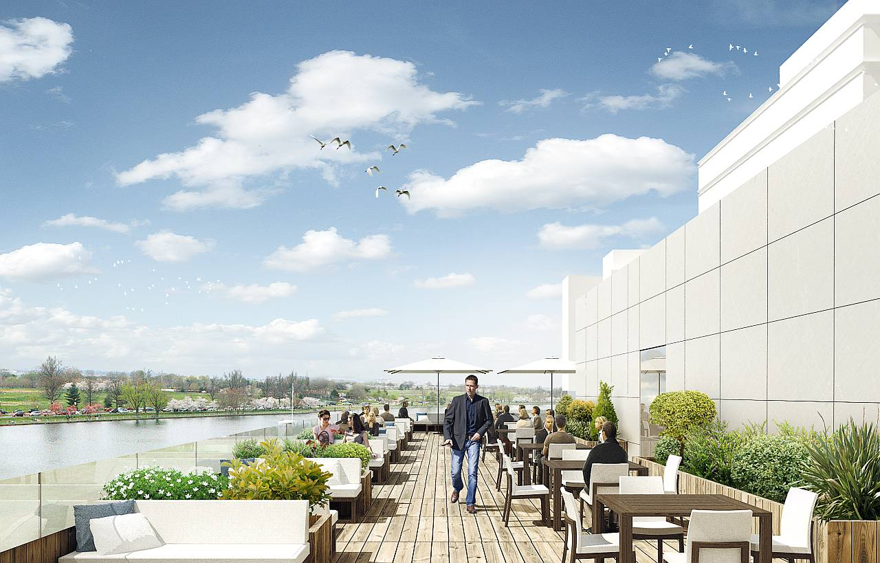 Rooftop of the Wharf Marina by Hollwich Kushner : Render © Hollwich Kushner