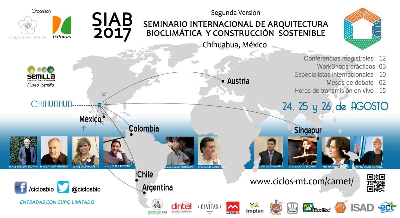 Seminario Internacional de Arquitectura Bioclimática y Construcción Sostenible 2017 : Cartel © Ciclos Bioclimática