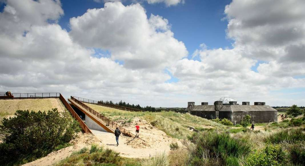 TIRPITZ museum embedded in the characteristic dune landscape of West Jutland, Denmark : Photo credit © Mike Bink Photography