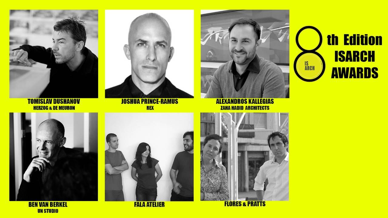 Jurado de la 8° Edición de los Premios ISARCH para Estudiantes de Arquitectura : Imagen © PREMIOS ISARCH
