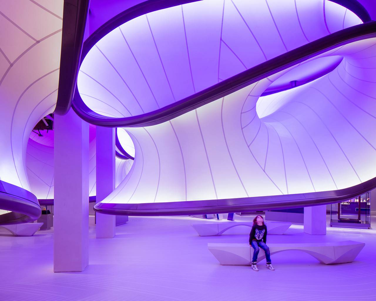 Civic, Culture and Transport Category - Mathematics The Winton Gallery by Zaha Hadid Architects : Photo courtesy of © INSIDE: World Festival of Interiors