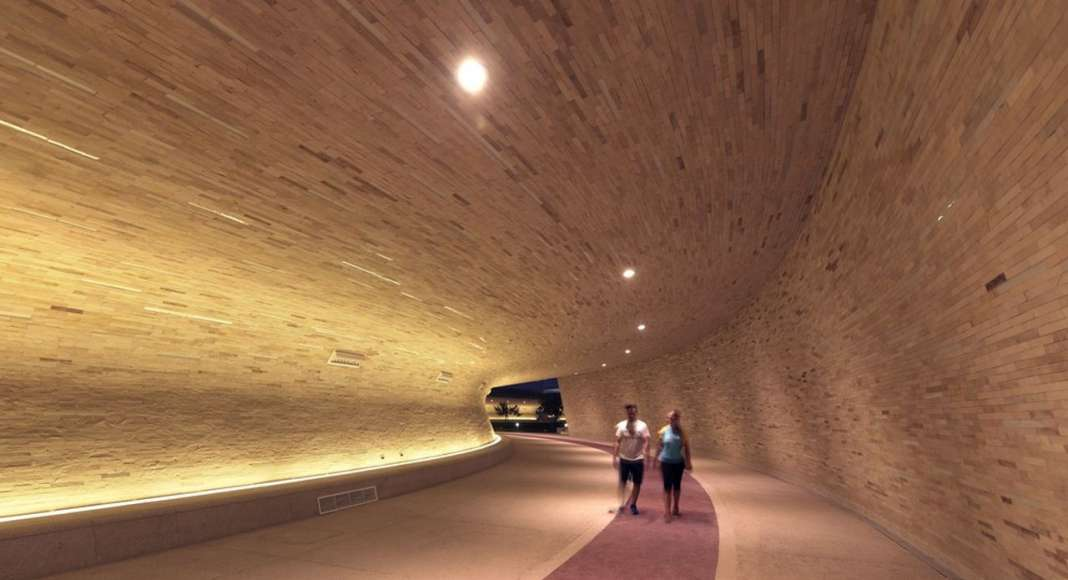 Covered Walkway - Tunnel Section : Photo credit © Markus Elblaus