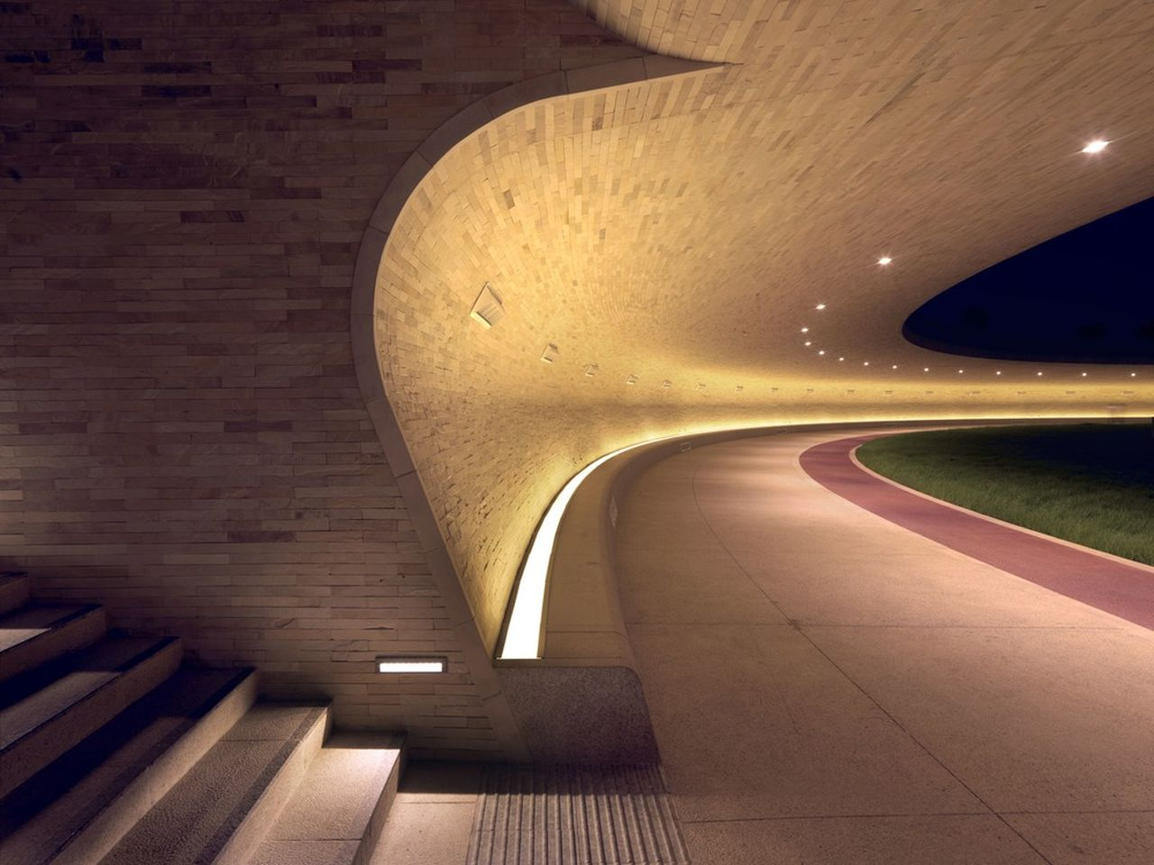 Covered Walkway - Entrance Stair : Photo credit © Markus Elblaus