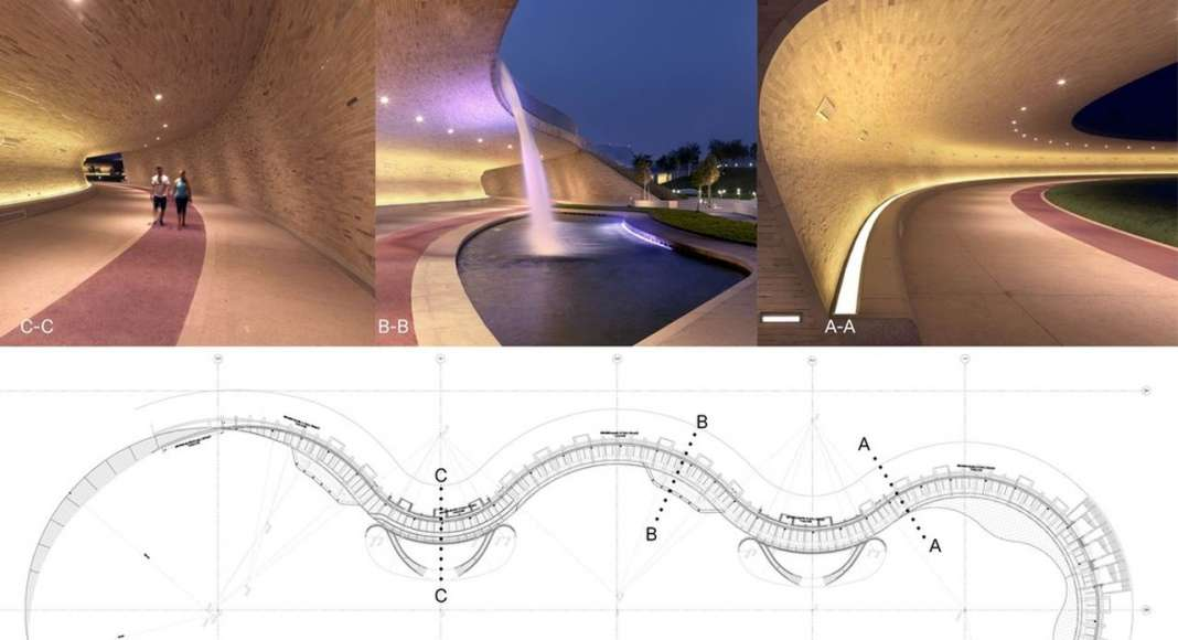 Covered Walkway Plan and Sections : Photo credit © AECOM