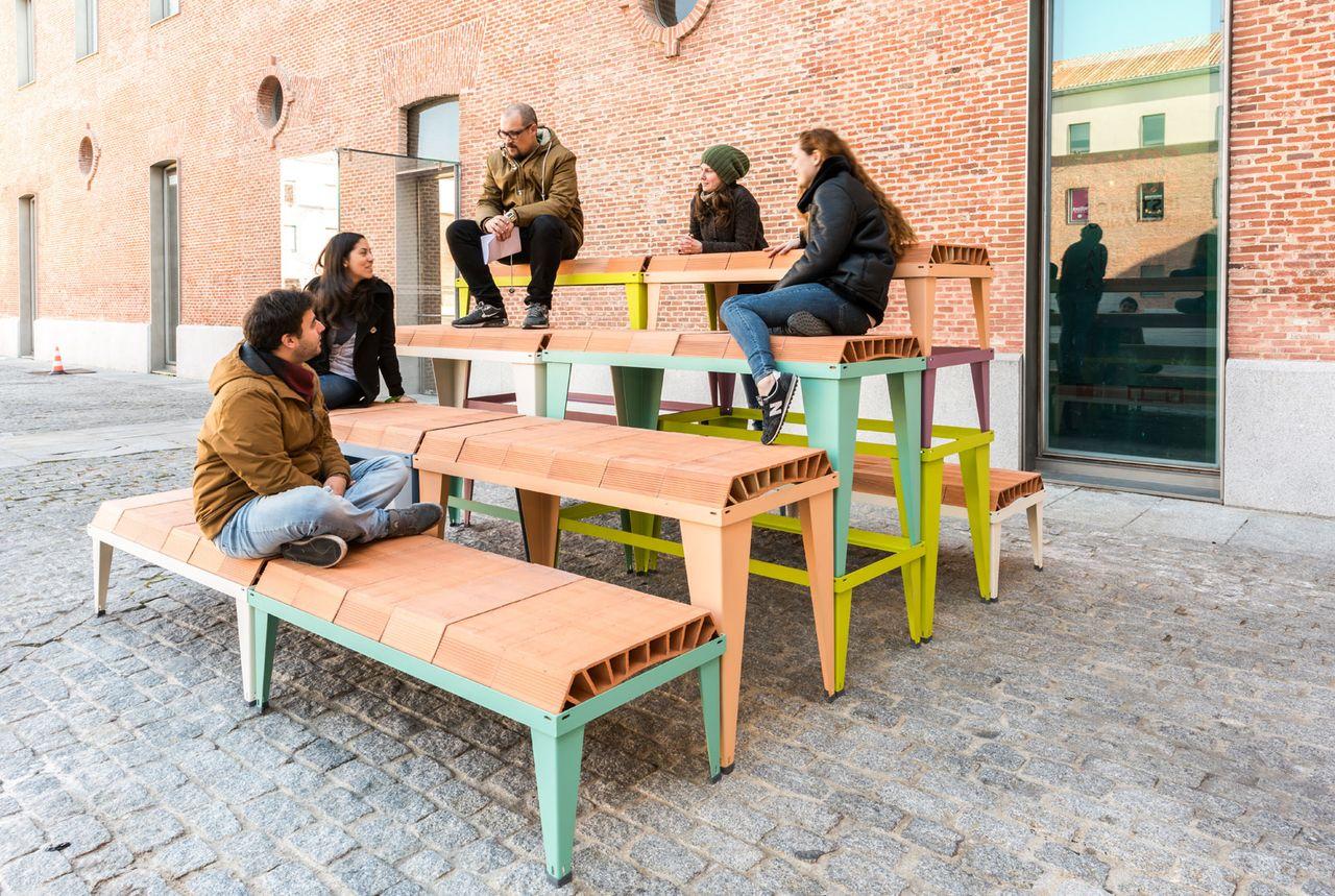 Schlickeysen Furniture System Bovedilla Series #01 by ENORME Studio (Madrid, 2017) : Photo © ENORME Studio