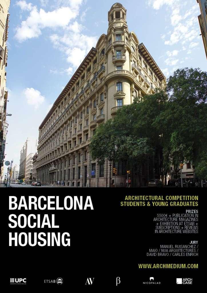 ARCHmedium lanza el concurso de arquitectura BARCELONA SOCIAL HOUSING : Poster © ARCHmedium