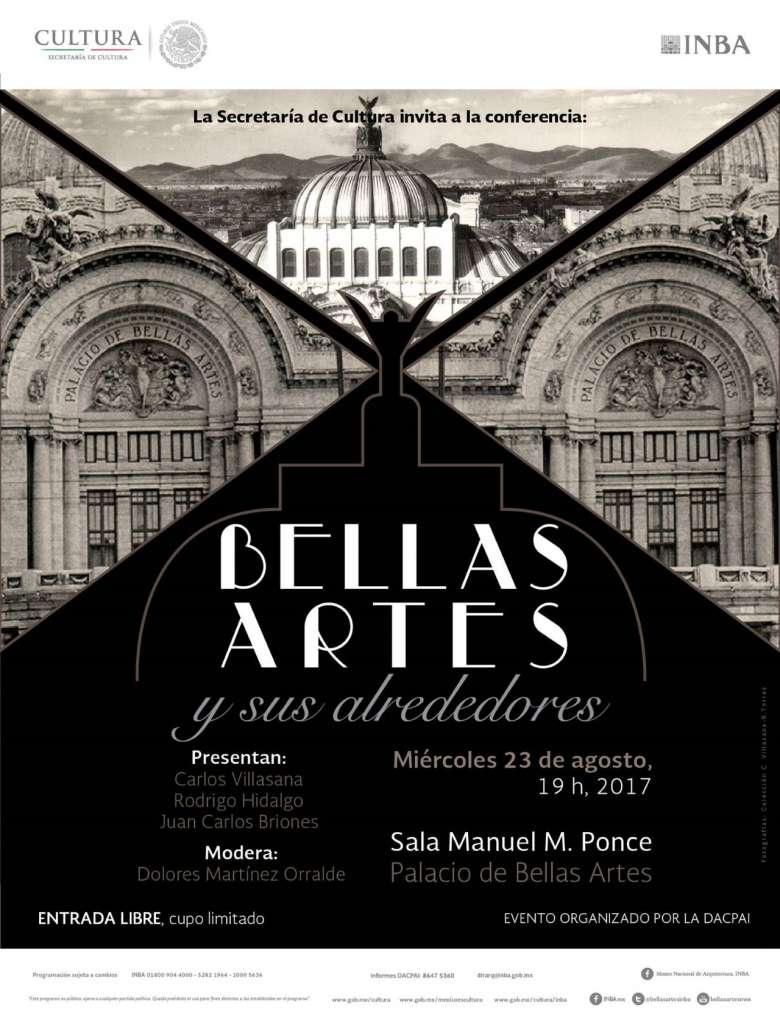 Conferencia de arquitectura titulada: BELLAS ARTES y sus alrededores : Poster © DACPAI/INBA