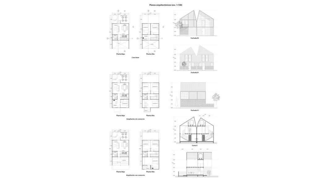 Vivienda tala una apuesta por una nueva vivienda for Planos arquitectonicos vivienda