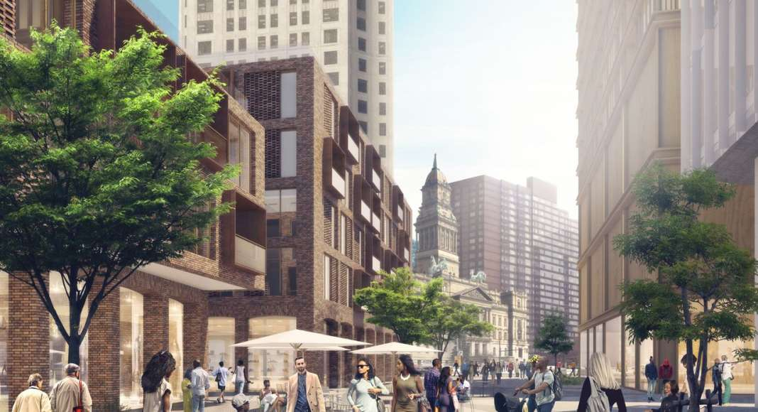 Monroe Blocks Farmer Life in Detroit by Schmidt Hammer Lassen Architects : Render © Schmidt Hammer Lassen Architects