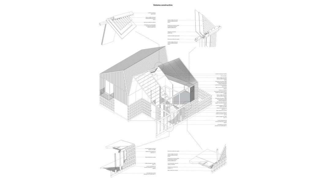 Sistema Constructivo para el proyecto Vivienda Tala : Imágen © ZD+A e © Iñaki Echeverría