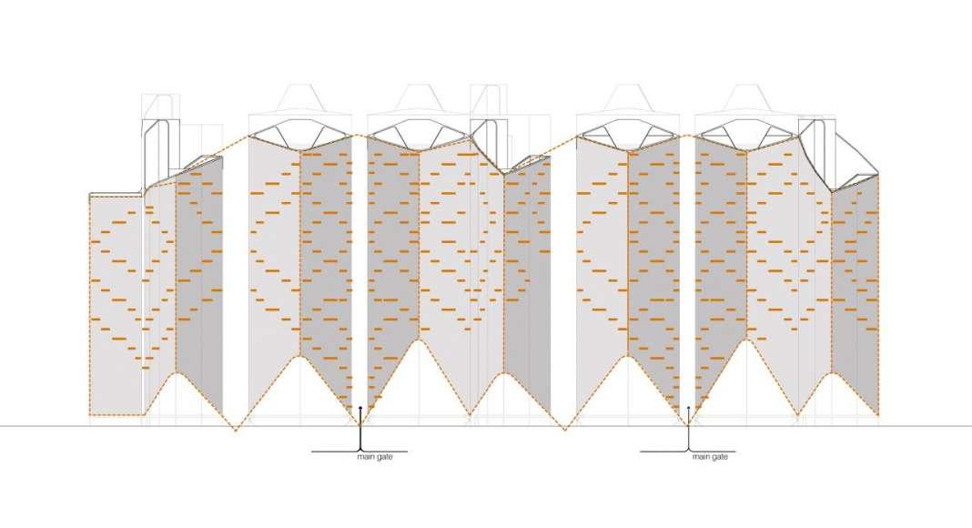 Facade Pattern Block 1 IPARK, Daegu, by UNStudio : Drawing © UNStudio