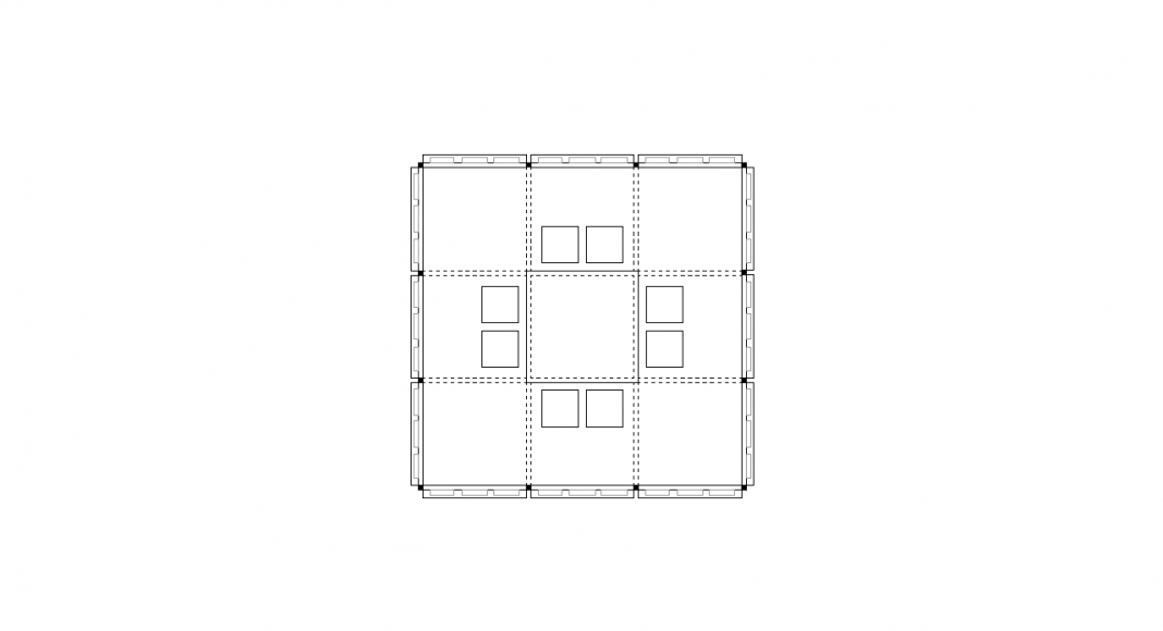 PRESS BOX Floor Plan : Dibujo © SET Architects