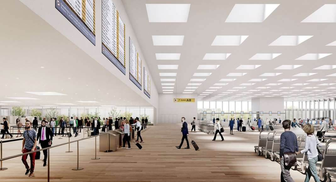 Amsterdam Airport Schiphol Terminal by KAAN Architecten : Photo © KAAN Architecten
