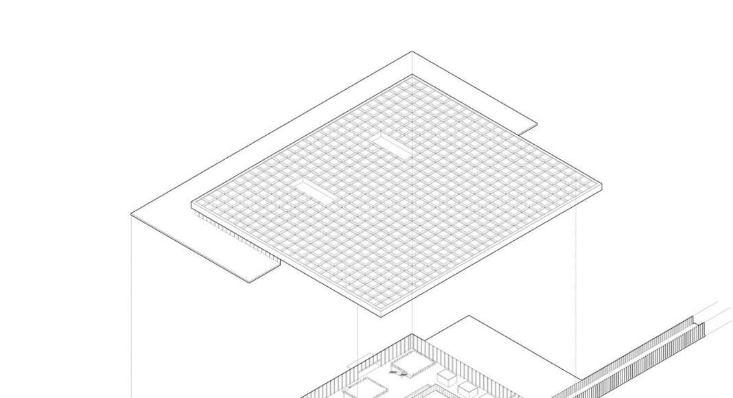 Amsterdam Airport Schiphol Terminal Axonometric View by KAAN Architecten : Drawing © KAAN Architecten
