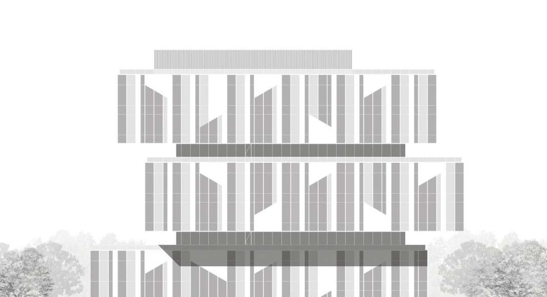 CaoHeJing Guigu Creative Headquarters Elevation : Drawing © Schmidt Hammer Lassen Architects