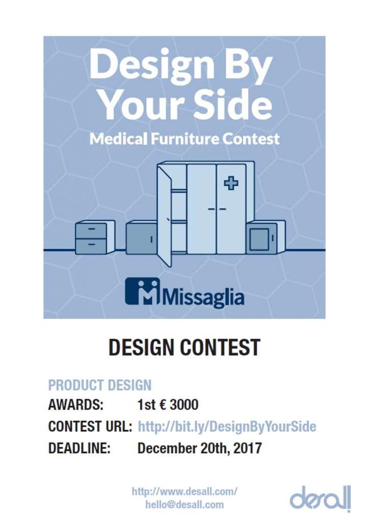 Concurso Design By Your Side organizado por Missaglia y Desall.com : Poster © Desall.com