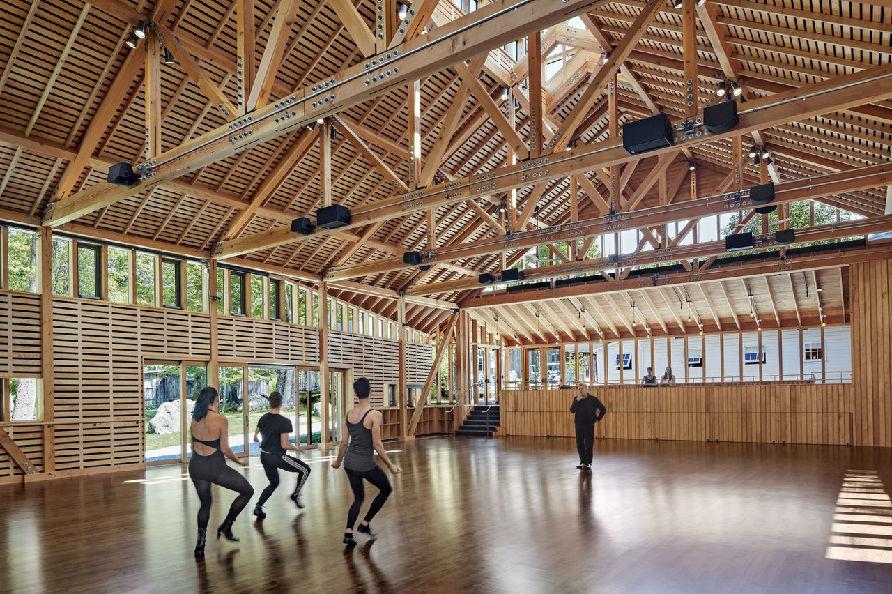 Nuevo Estudio en Jacob's Pillow Dance diseñado por Flansburgh Architects : Photo © Robert Benson Photography