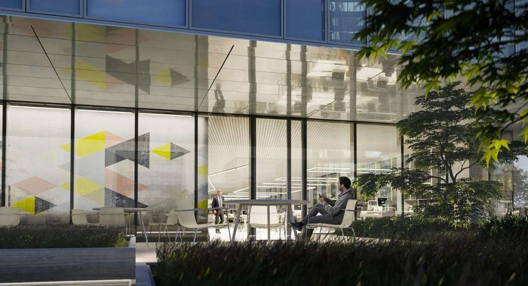 CaoHeJing Guigu Creative Headquarters Terrace View : Photo © Schmidt Hammer Lassen Architects