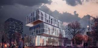 CaoHeJing Guigu Creative Headquarters Corner View : Photo © Schmidt Hammer Lassen Architects