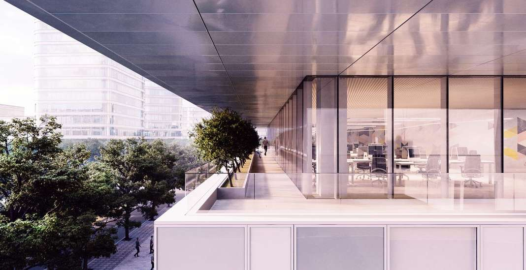 CaoHeJing Guigu Creative Headquarters Terrace : Photo © Schmidt Hammer Lassen Architects