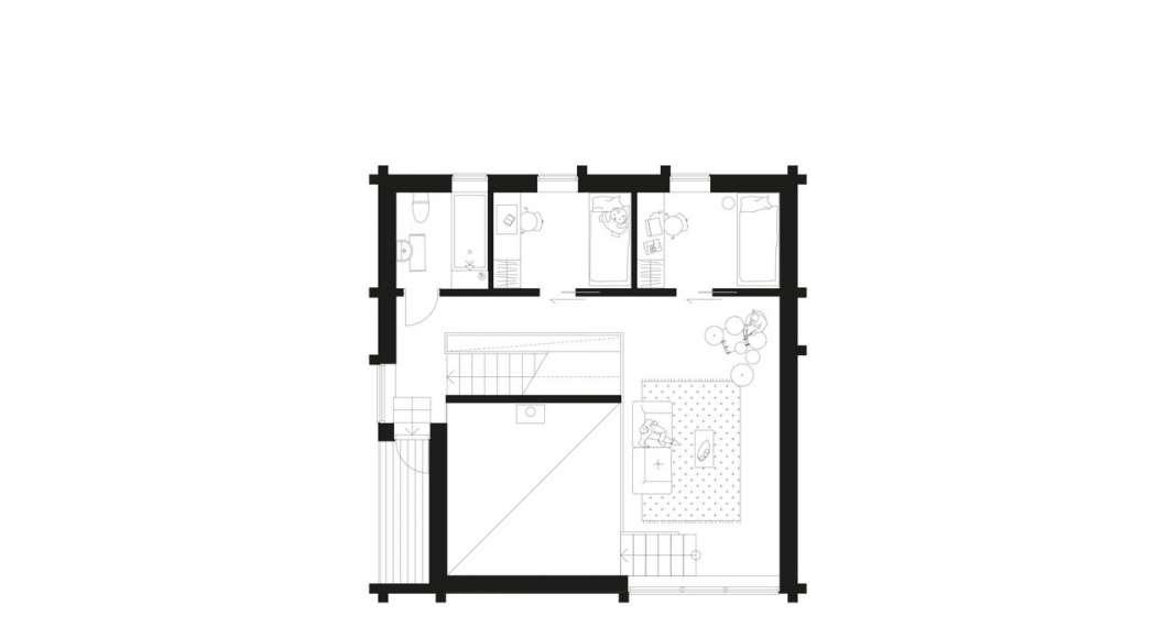 Späckhuggaren Second floor : Photo © Bornstein Lyckefors Arkitekter