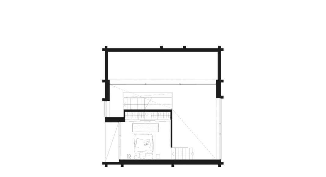 Späckhuggaren Third floor (master bedroom) : Photo © Bornstein Lyckefors Arkitekter