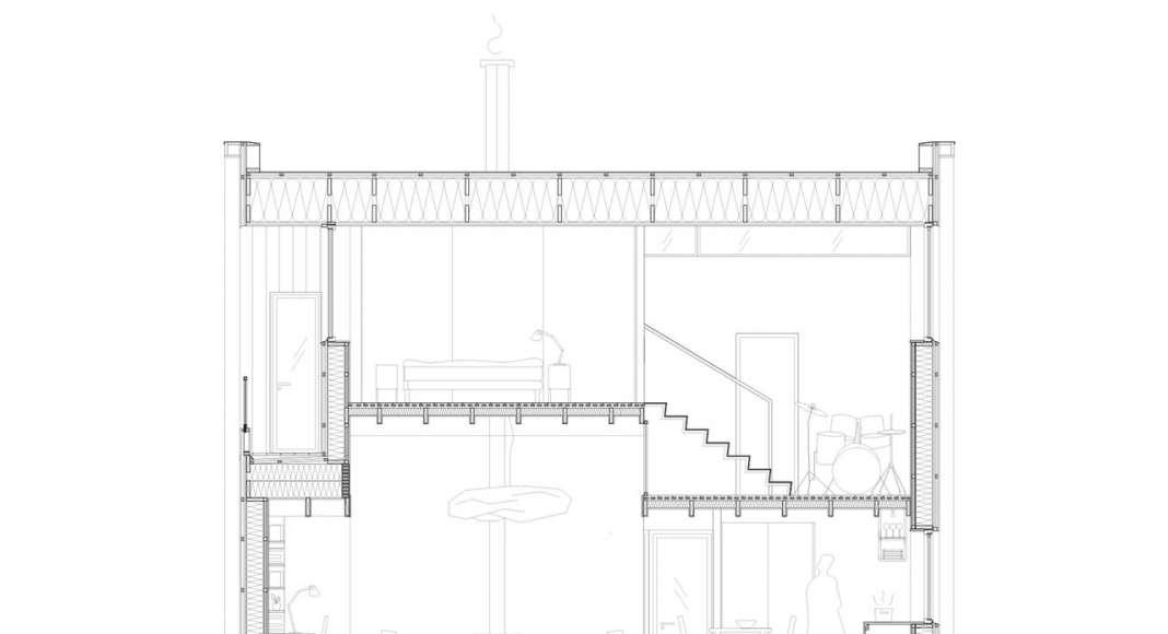 Späckhuggaren Section Cut, Detailed : Photo © Bornstein Lyckefors Arkitekter