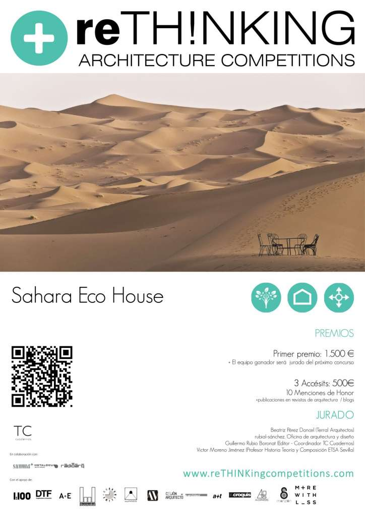 Concurso Sahara Eco House : ¨Poster © Rethinking Architecture Competitions