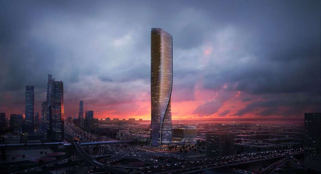 Wasl Tower Dubai designed by UNStudio and Werner Sobek : CGI visualisation © Plompmozes