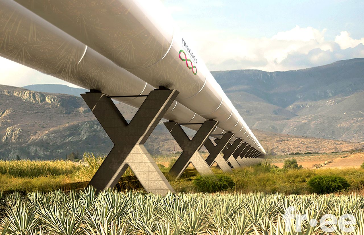 Mexloop Hyperloop One Corredor México : Render © FR-EE
