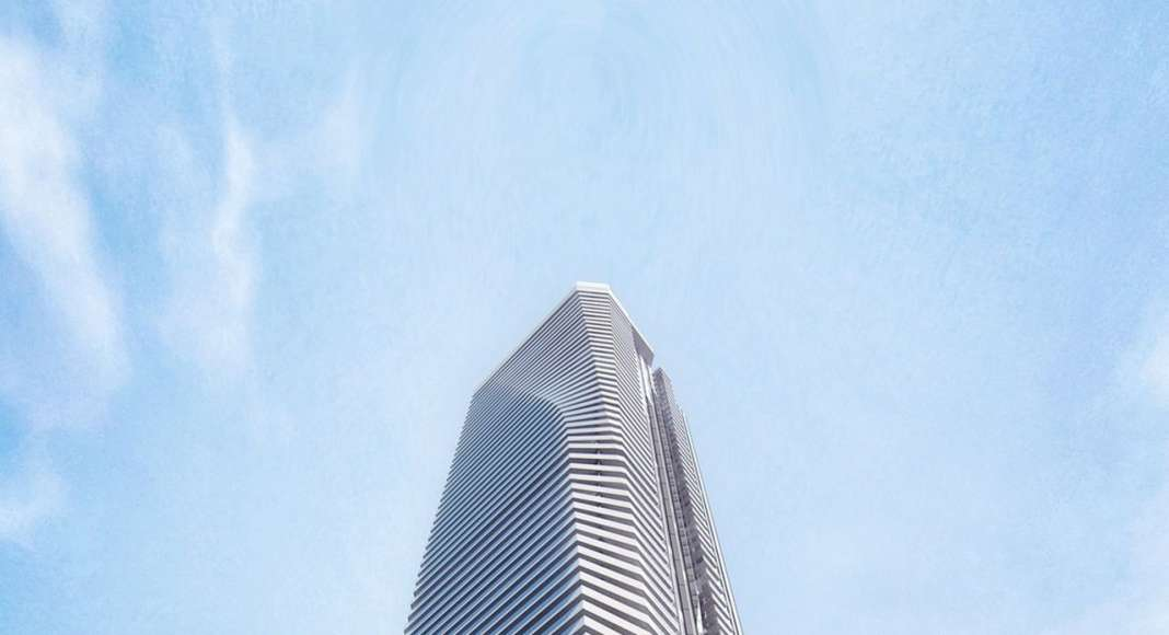 View of Phase 1 Tower From Harbour Street : Photo credit © Hariri Pontarini Architects