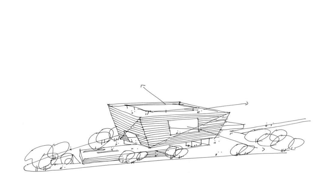Shanghai East Library Sketch by Schmidt Hammer Lassen Architects : Render © Schmidt Hammer Lassen Architects