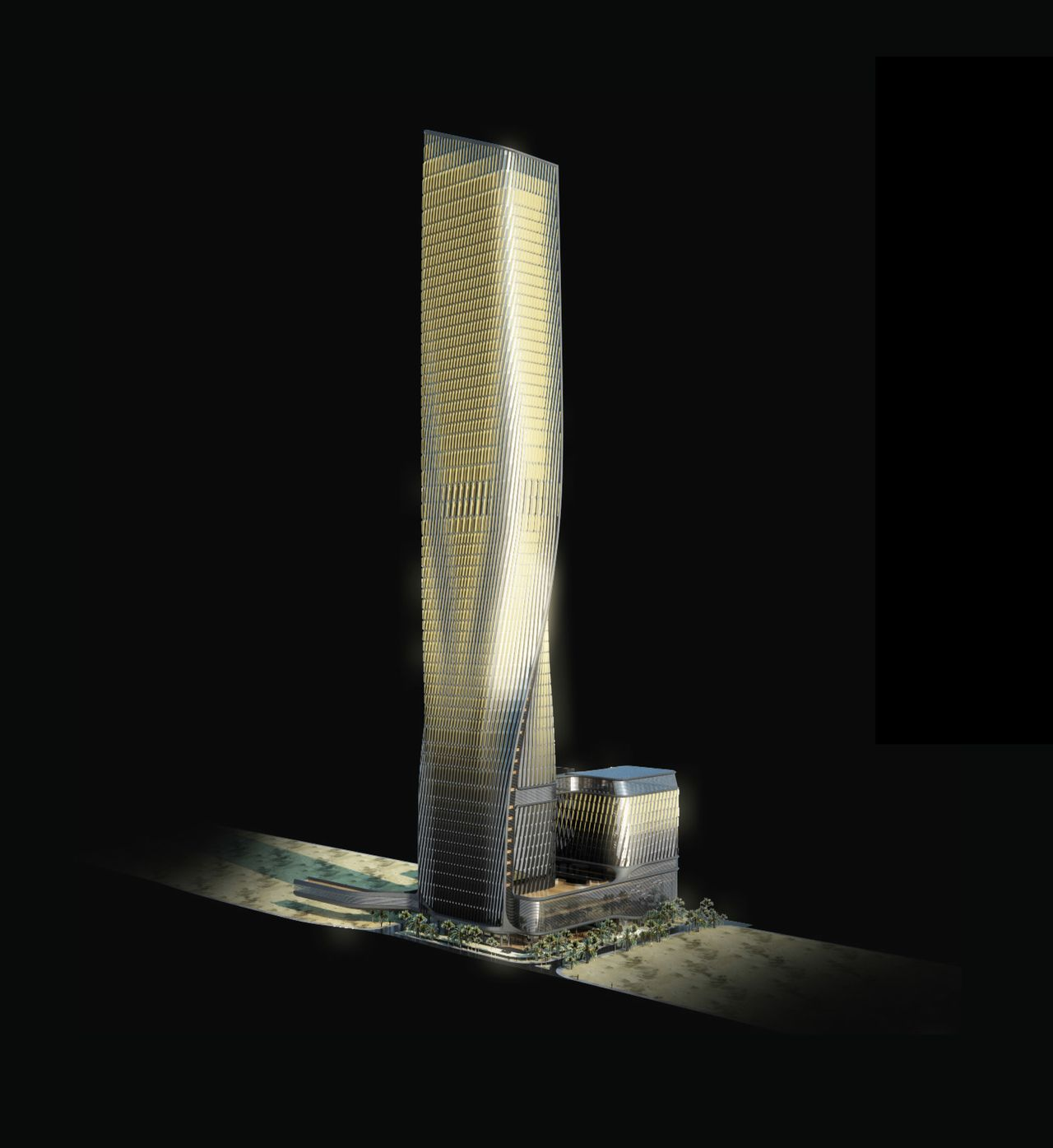 Wasl Tower Dubai designed by UNStudio and Werner Sobek : Diagram © UNstudio