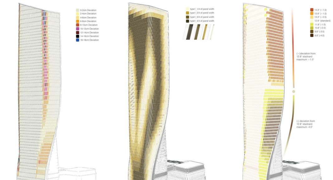 UNStudio Wasl Tower Dubai Facade Optimization : Drawing © UNStudio