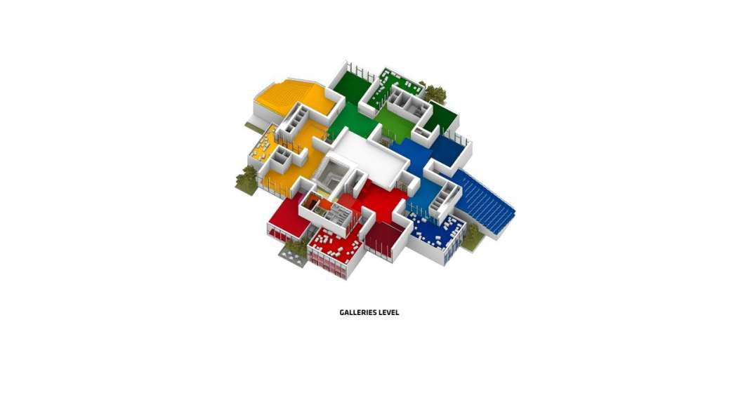 LEGO House 3D Axonometric in Billund, Denmark : Drawing © BIG — Bjarke Ingels Group